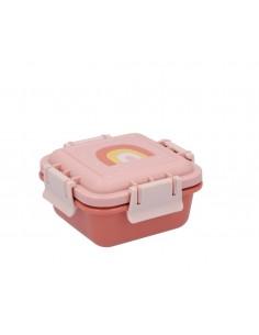 Caja Almuerzo Pequeña Arcoiris Rosa
