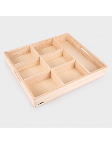74055 Wooden Sorting Tray 7 Tickit