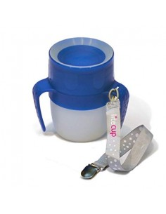 Vaso antiderrame Litecup Baby Azulón Con Asas 200 ml