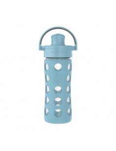 Botella Vidrio LIFEFACTORY 350 ml Azul Denim
