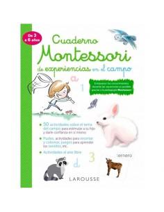 Cuaderno Montessori en el campo