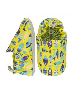 Poco Nido Vegano Rainbow Fish Yellow Mini Shoes- FW21