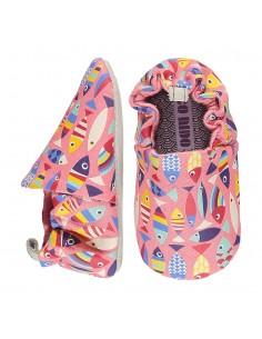 Poco Nido Rainbow Fish Pink Mini Shoes- FW21