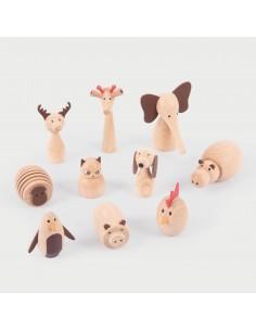 Animales de Madera Tickit 8cm