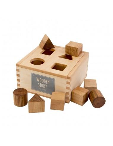 Caja formas natural Wooden Story