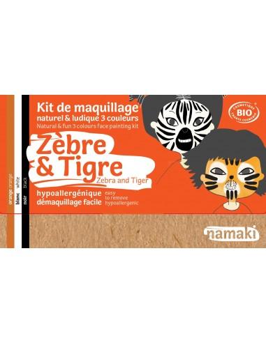 Kit maquillaje ecológico Namaki CEBRA/TIGRE