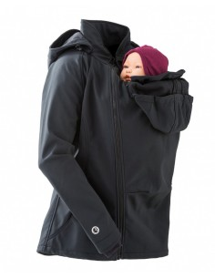 Chaqueta Maternidad Softshell MAMALILA (NEGRO)