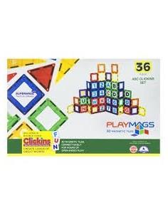 PLAYMAGS 36 piezas (Letras...