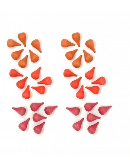 Foc, fuego. Mini piezas sueltas Grapat  Piezas para la creación de mandalas, construcción...