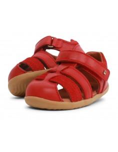 729203 Sandalia Roam Red Roja Zapato primeros pasos de la marca Bobux SS19