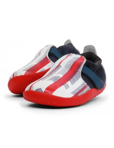 500061 Xplorer Aktiv Arrows Navy + Red Zapato primeros pasos de la marca Bobux SS19