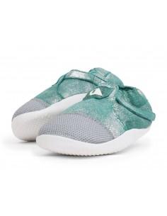 500065 Xplorer Aktiv Origin Aqua sparkle.  Zapato primeros pasos de la marca Bobux.