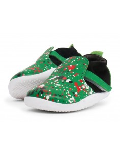 500053 Xplorer Aktiv Spekkel Emerald Splatter Zapato primeros pasos de la marca Bobux SS19