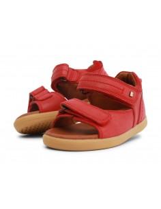 633604 Driftwood Red Sandalia roja I Walk Bobux