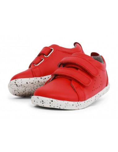 633713 Grass Court Red Zapato deportivo rojo I Walk Bobux