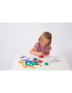 54047 Rainbow Pebbles - Pk36 Tickit