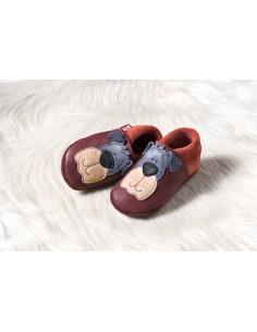 Zapato de gateo POLOLO Perro Granate
