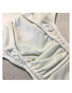 detalle interior cobertor pañal de tela