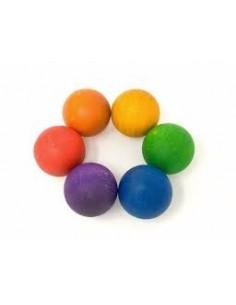 Bolas madera color (unidad)