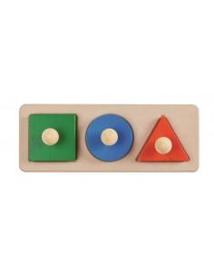 Encaja Figuras Geométricas Pomo PlanToys