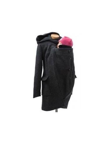 Abrigo Maternidad Embarazo y porteo Lana MAMALILA (GRIS)