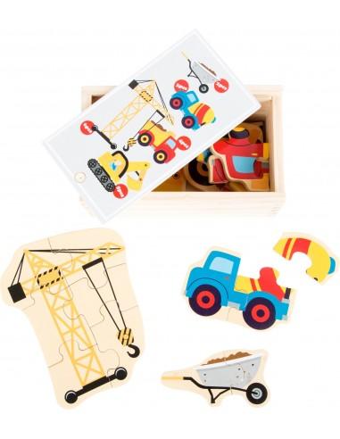 """Caja de puzles """"Mundo de la construcción"""" Legler"""