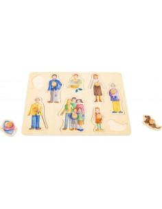 Puzzle familia y amigos con pomo Legler