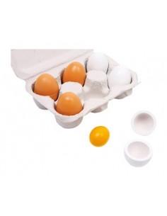 Conjunto de huevos de juguete para cocinita