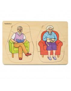 Puzzle abuelo y abuela DUSYMA