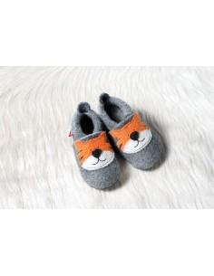 Zapatilla de lana POLOLO Tigre