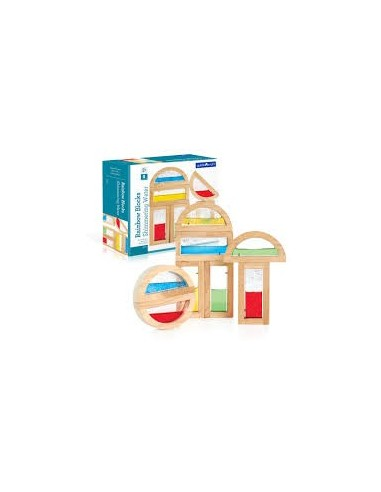 Rainbow Blocks-líquido brillante Guide Craft
