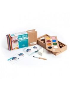 kit de 8 pinturas de maquillaje ecológico para niños y niñas