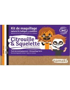 Kit maquillaje Namaki CITROUILLE/ESQUELET BIO* NEW