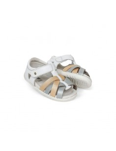 729810 Bobux SU Tropicana Closed Sandal WhGoSil
