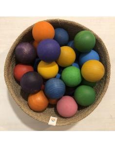 Granel Bolas madera color
