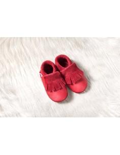 Zapato de gateo POLOLO Moccasin Rojo