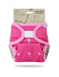 Petit Lulu Pañal de tela SIO Complete Velcro Rosa