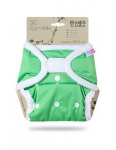 Pañal de tela Petit Lulu SIO Complete Velcro Verde