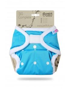 Petit Lulu  Pañal de tela SIO Complete Velcro Azul