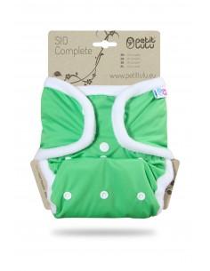 Pañal de tela Petit Lulu SIO Complete Snaps Verde
