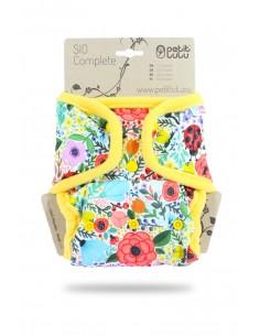 Petit Lulu Pañal de tela SIO Complete Snaps Flor