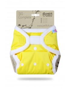 Petit Lulu Pañal de tela SIO Complete Velcro Amarillo