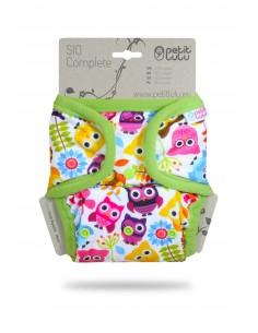 Petit Lulu Pañal de tela SIO Complete Snaps Owls