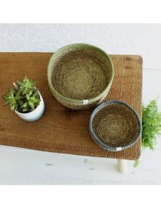 Cesta Yute+Seagrass Pequeña (Natural/gris)
