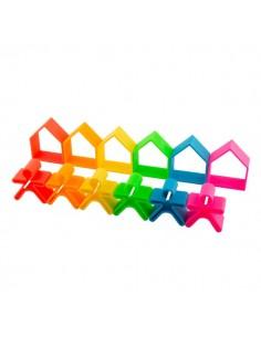 6 Kids + 6Houses colores neón DENA