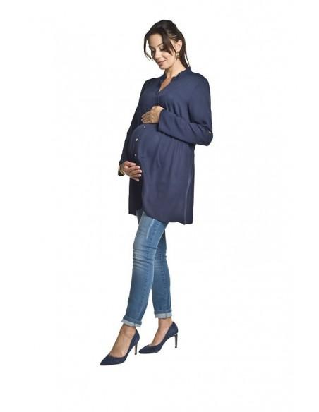 Vestido camisero Pre-mamá y lactancia Tonea TORELLE (Marino)