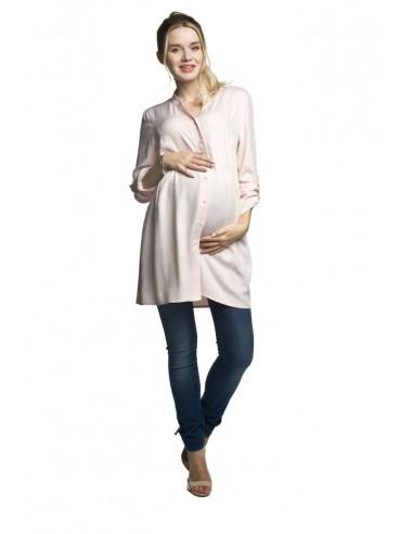 Vestido camisero pre-mamá y lactancia Tonea TORELLE (Rosa)