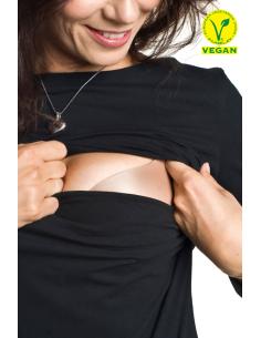 Camiseta Premamá y Lactancia Torelle Negra