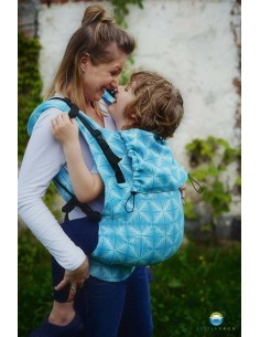 Mochila Toddler XL Little Frog Blue Glimmer
