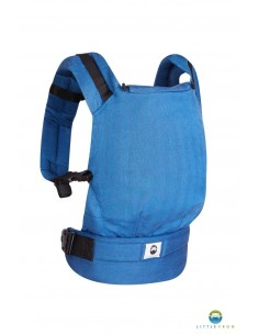 Mochila Evolutiva Standard Little Frog Blue Herringbone